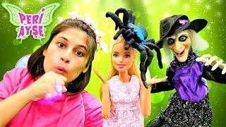 Peri Ayşe ve yaşlı cadı Barbie'nin partisinde sihir yapıyorlar. Çocuk videosu