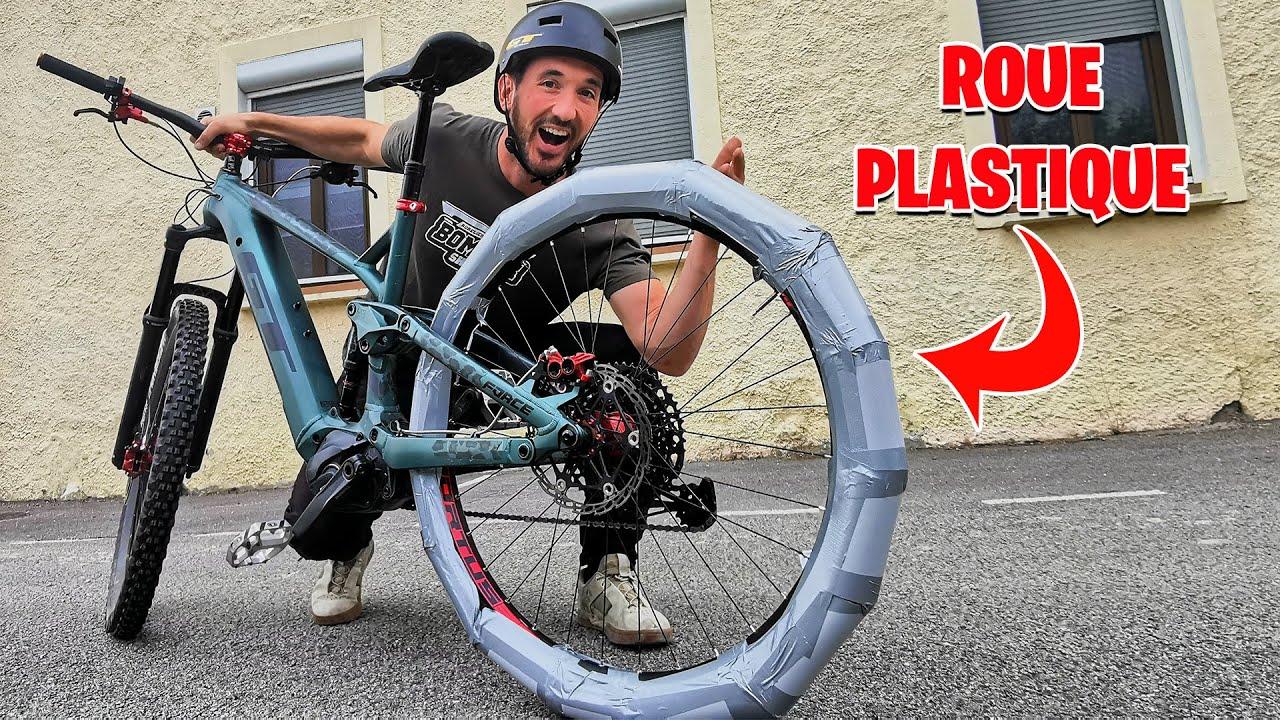 ROUE EN PLASTIQUE | Je modifie mon VTT pour la glisse !