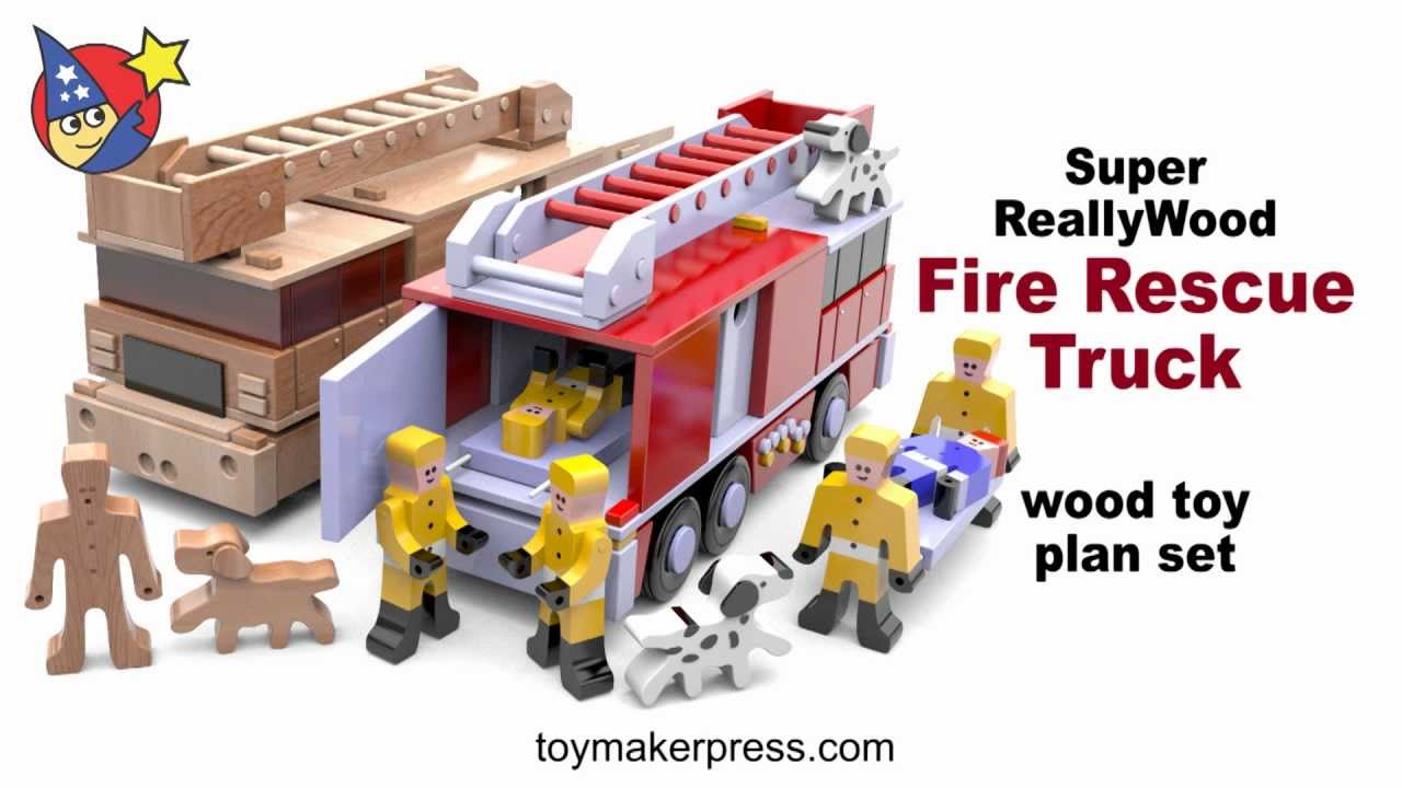 Wood Toy Plans - Really Cool Fire Truck - YouTube