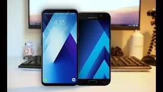 Samsung Galaxy A5 (2018) vs Galaxy A5 (2017) - Specs Comparison