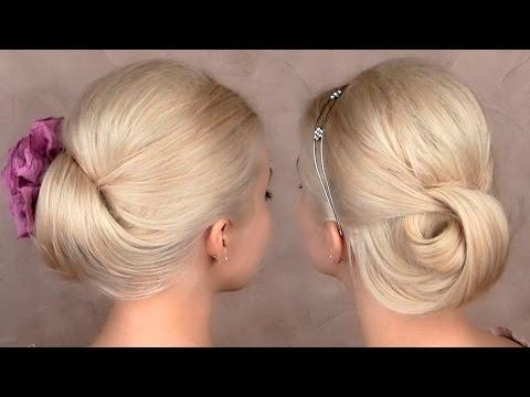 Праздничная/вечерняя/свадебная причёска прическа на средние и длинные волосы, быстро и легко