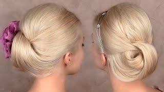Праздничная/вечерняя/свадебная причёска прическа на средние и длинные волосы, быстро и легко(Вы меня часто просите показать прически которые подходят не только для длинных волос, но и для волос средне..., 2014-07-17T10:00:02.000Z)