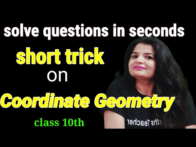{Short Trick} Coordinate Geometry| Solve in seconds | Easy trick | Easy methods | Competitive exams