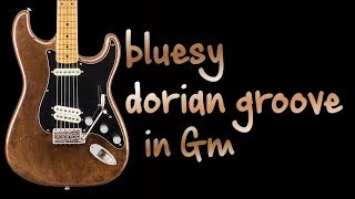 Bluesy Dorian Groove Funk Guitar backing Track Jam in Gm