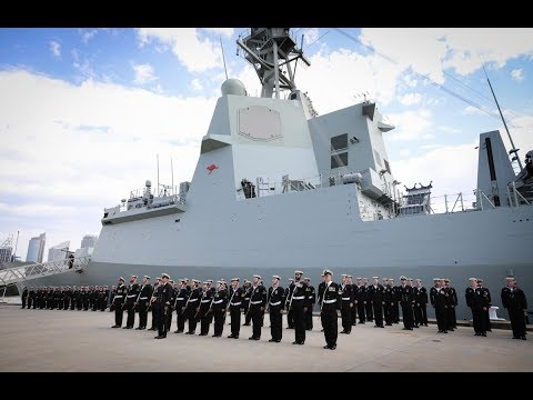 HMAS Hobart (III) commissioning