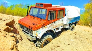 NEW RC Truck Traxxas TRX4 Unimog U5000 OFF Road Driving, Upgrade and Painting New Body - Wilimovich