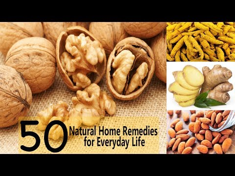 Top 50 Natural Home Remedies for Everyday Life | Hair Skin Cold Cough Fever  Gastric Toothache Burns