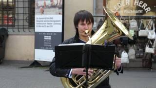 Straßenmusik - Neva Brass St. Petersburg - The Arrival Of The Queen Of Sheba - Erfurt 2011