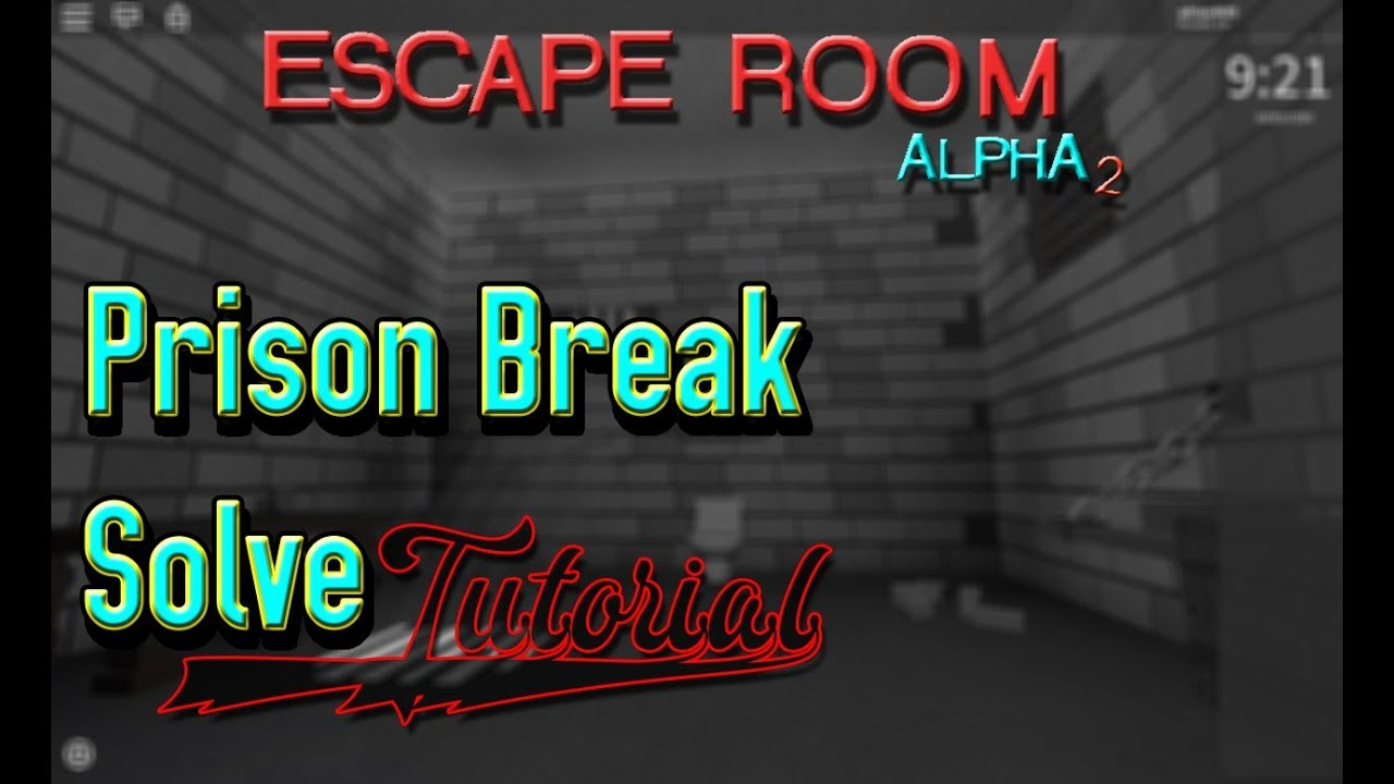 Room Escape Prison Break Roblox