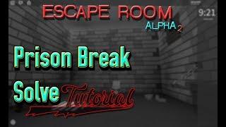 How To Escape Prison Break On Escape Room | Roblox Escape Room Solve