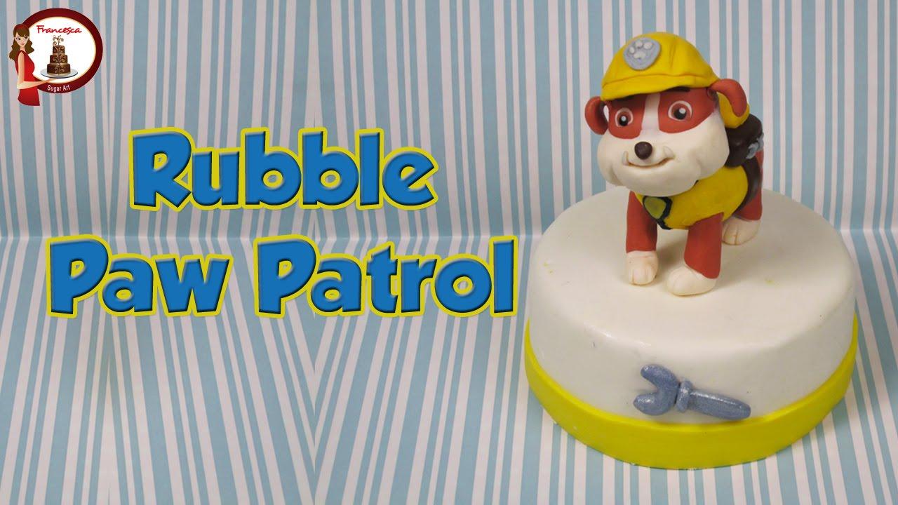 Paw Patrol Rubble Fondant Cake