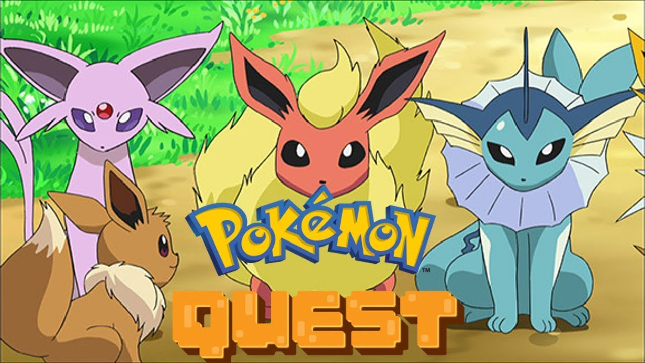 evolve eevee pokemon quest