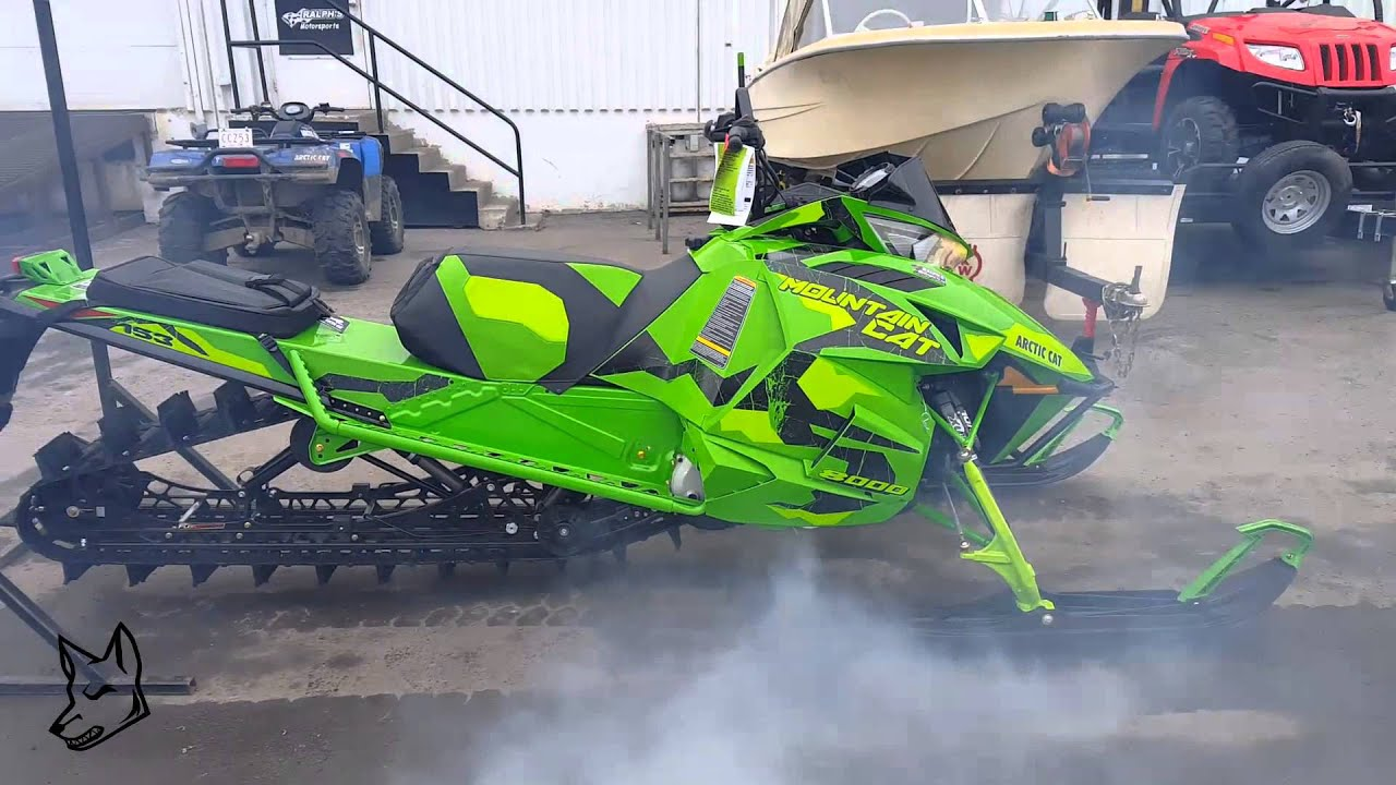2017 Arctic Cat Mountain Cat M8000 First Start Ever Youtube