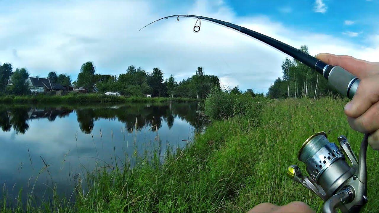 Рыбалка и Ловля на Спиннинг Ловлю прудовую Щуку Спиннингом на Блесну (Рыбалка Видео) - MF №68