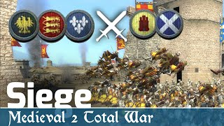 Medieval 2 Total War Online Battles #246 (2v3 Siege) - Be Aggressive