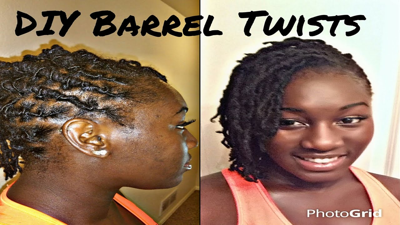 DIY Barrel Twist On Short/Medium Locs