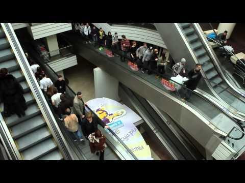 Видео, Флешмоб в торговом центре