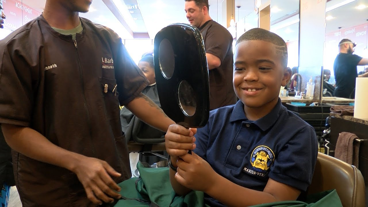 Barber shop gives cleveland students free haircuts youtube barber shop gives cleveland students free haircuts winobraniefo Gallery