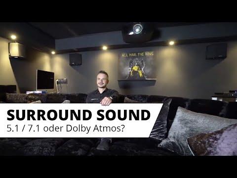 Surround-Sound - 5.1, 7.1 oder Dolby Atmos Sound? Die gängigen Sound Formate erklärt....