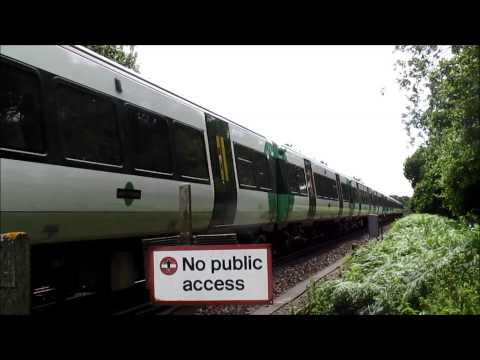 Trains near Wivelsfield station, 5th July, 2014