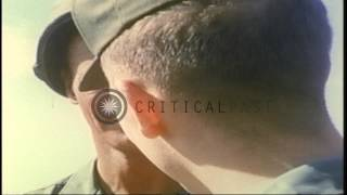 US Army Chaplain Captain Angelo Liteky talks to the members of the press at the F...HD Stock Footage