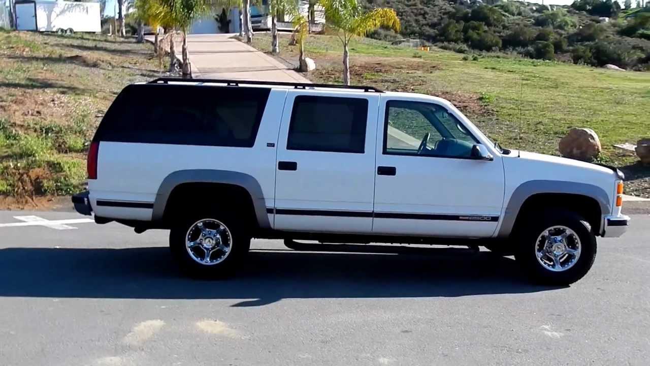 GMC Suburban 4x4 7.4 1 Owner 116K Chevrolet SUV Tahoe 3rd Row 4 ...