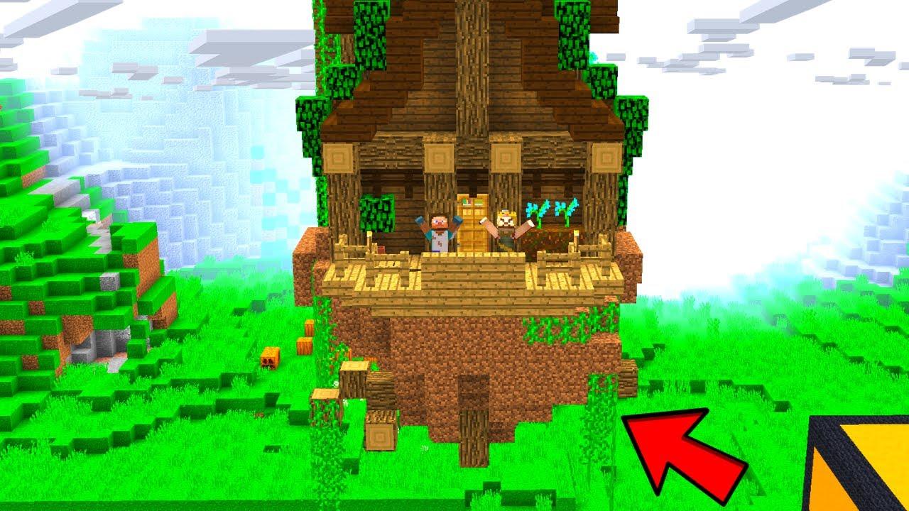 FAKİR UÇAN EV YAPIYOR! - 😱 - Minecraft