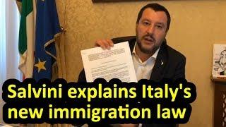 Matteo Salvini explains Italy's new immigration + security law, English subtitles, Decreto Salvini