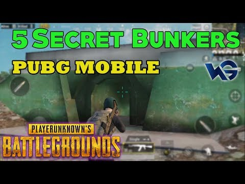 PUBG MOBILE : TOP 5 SECRET BUNKER AND LOCATION GUIDE | Good
