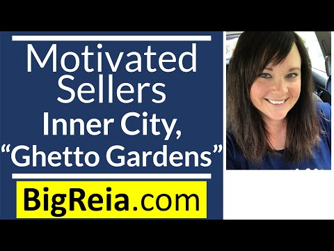 How to get motivated sellers with inner city, gangsta gardening, my first Indy Thug Life farming lol