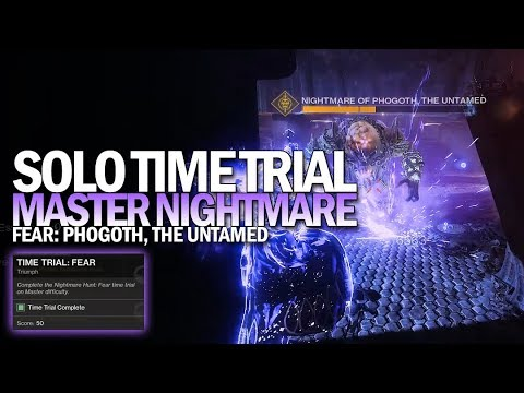 Solo Time Trial: Fear Triumph (Flawless Master Nightmare Hunt Time Trial) [Destiny 2]