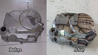 How to Polish Engine Cover - CD90 Engine cover restoration