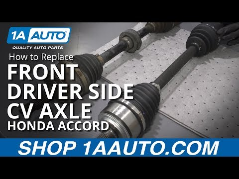 How to Replace Front Driver Side CV Axle 03-07 Honda Accord