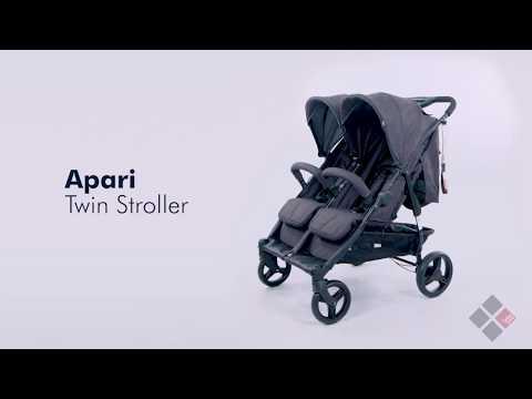 Bebe Care Apari Twin Stroller - Cinder