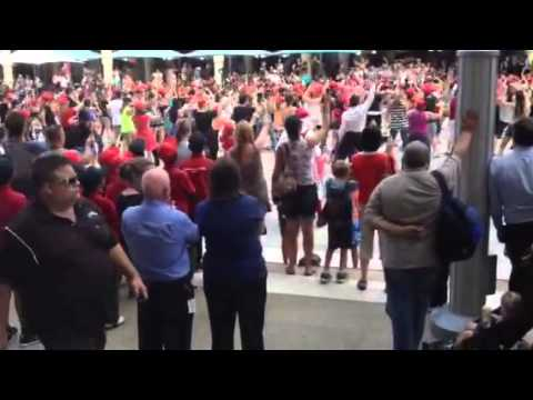 Flash Mob in Forrest Chase, Perth