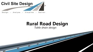 Civil Site Design - Tutorial - Rural Road Design Part 2