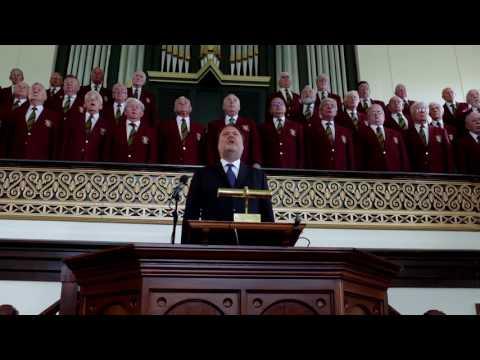 Dunvant Male Choir sing Calon Lan with Bryn Terfel at Mynyddbach chapel
