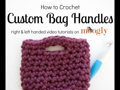 How to Crochet: Bag Handles (Left Handed) - YouTube
