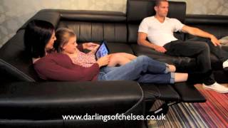 Italian Leather Corner Sofa With Electric Headrests & Electric Foot Rests - Darlings Of Chelsea