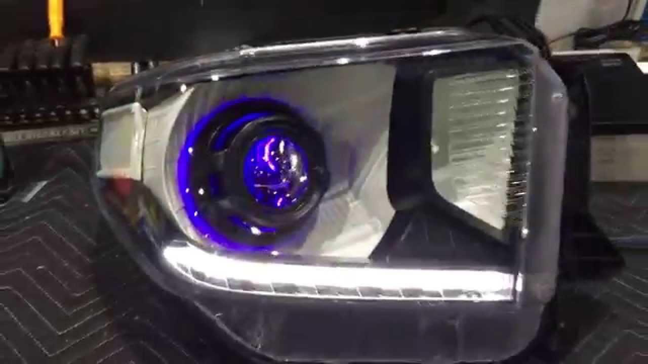 2014 Toyota Tundra Custom Projector Retrofit Halos And