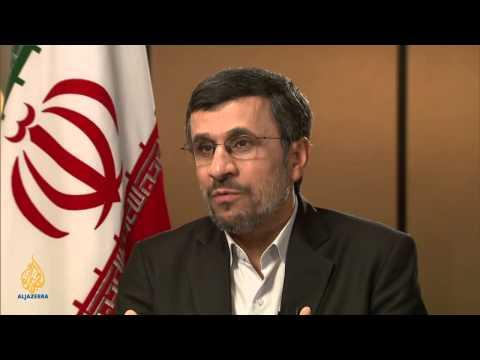 Talk to Al Jazeera - Ahmadinejad: 'You can't rule with war'