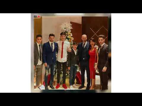Zinedine Zidane and family in Dubai, United Arab Emirates on Dec 24, 2017