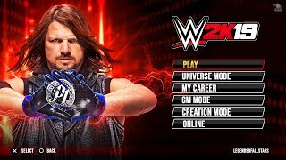 WWE 2K19 PS3 & Xbox 360 Main Menu Demo | GM Mode, Game Modes, Showcase & Much More | Concept/Notion