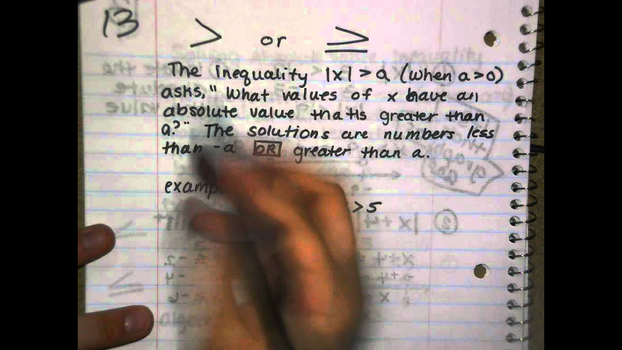 8th Grade Item 13 Inequalities With Absolute Values 1 Of 1