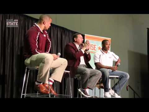 Dak Prescott, Jay Hughes, and Dan Mullen speak at Metro College Fair in Jackson.