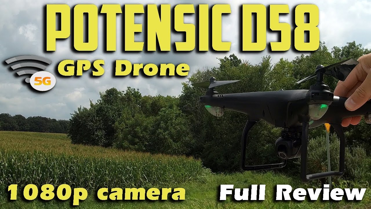 Download Potensic D58 1080p 5G WIFI GPS Drone Review
