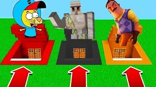 YANLIŞ GEÇİTİ SEÇME! (Kral Şakir,Hello Neighbor,Golem) 😱 - Minecraft
