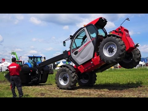 NEW Manitou Telehandler Loader Demonstration 2017 - 129 hp Deutz Engine - Manitou MLT 737-130 PS+
