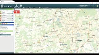 GPS СИСТЕМА КОНТРОЛЮ ТРАНСПОРТУ - MAPIX Відео інструкція 1. Карта