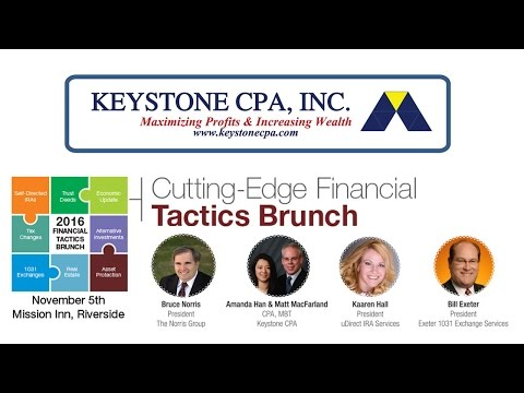 Tax Tips for Real Estate Investors 2017 with Keystone CPA